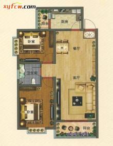 动静分区,功能合理 舒适尺度设计,优雅天成 客厅、餐厅、大阳台连接,阳光通透、健康居家 卧室大飘窗,居家尽享尊贵人生