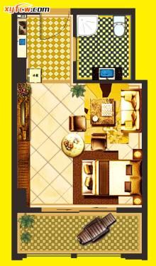 20160629中原国际1号楼公寓户型