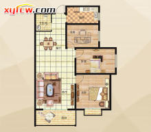 116三室两厅一卫B户型