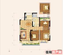 三室两厅一卫B-1户型