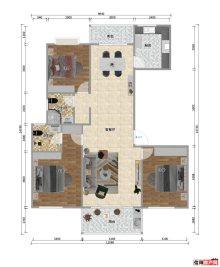 110平三室两厅两卫