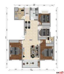 120平三室两厅两卫